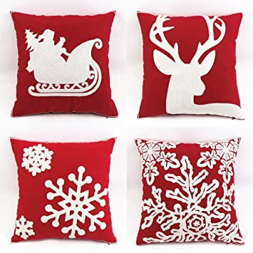 product linen merry christmas pillow pillows gifts covers throw cotton case to every home