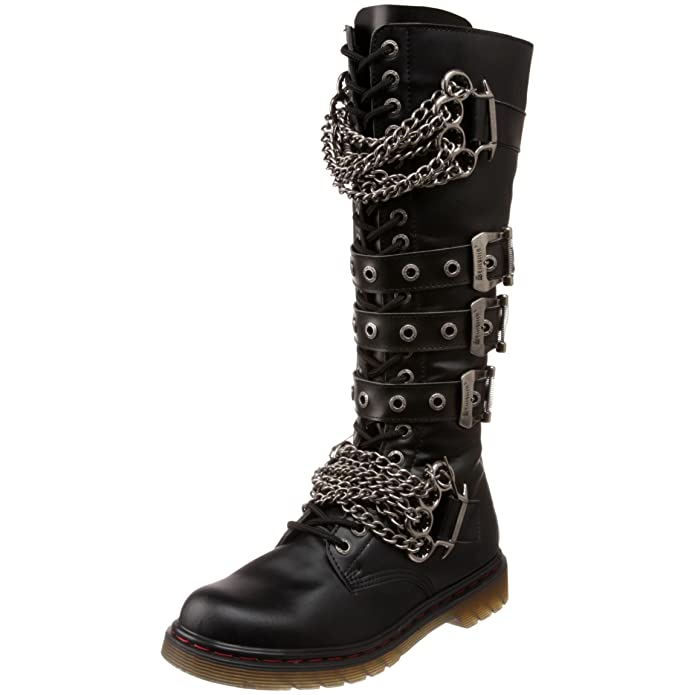 Steampunk Boots and Shoes for Men Demonia Mens Def402/b/pu Boot $129.95 AT vintagedancer.com