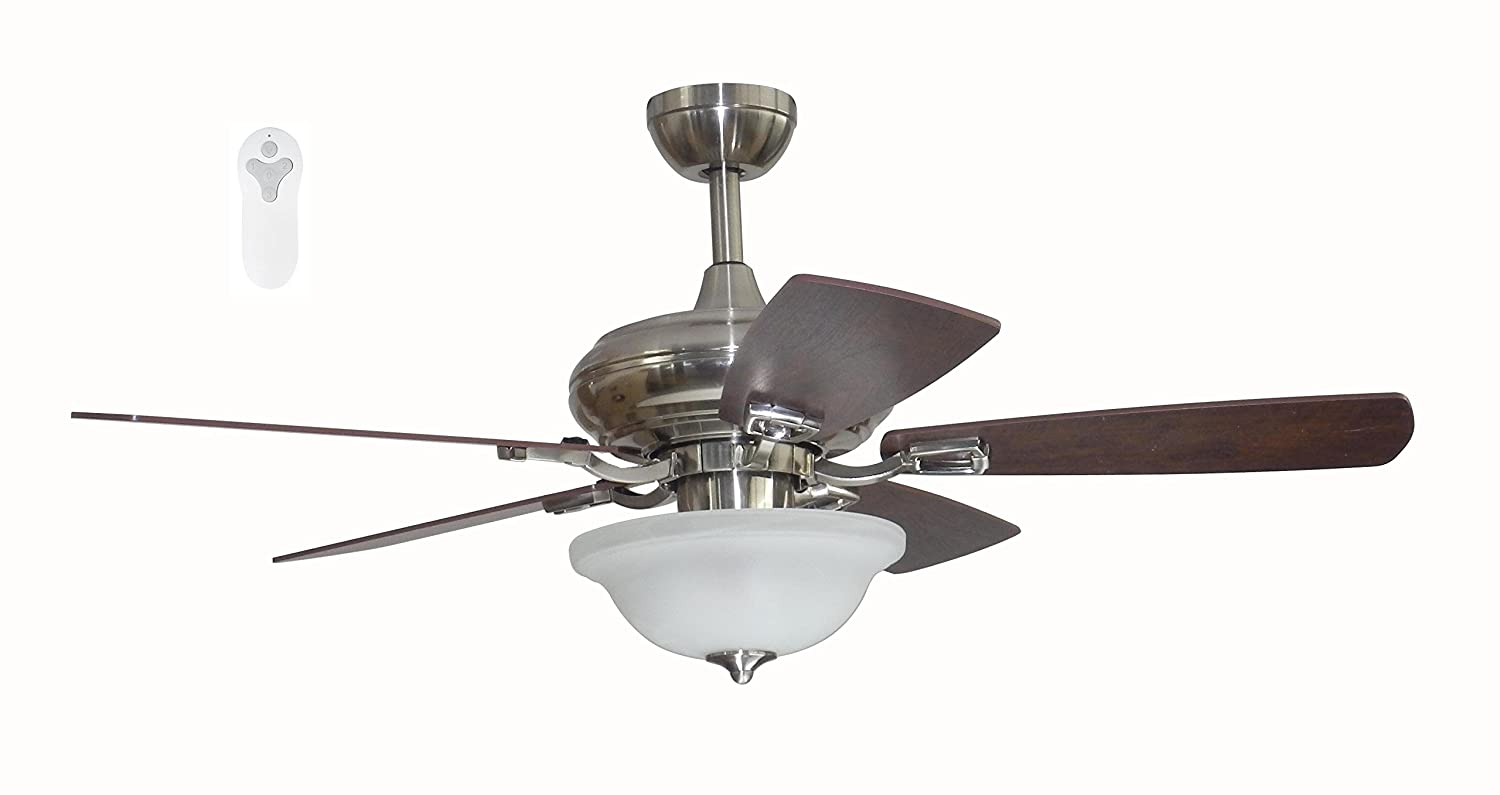Litex TLEII44OSB5L One Step Bronze 44-inch Ceiling Fan with Quick Connect Five Reversible Blades Sienna//Driftwood Litex Industries