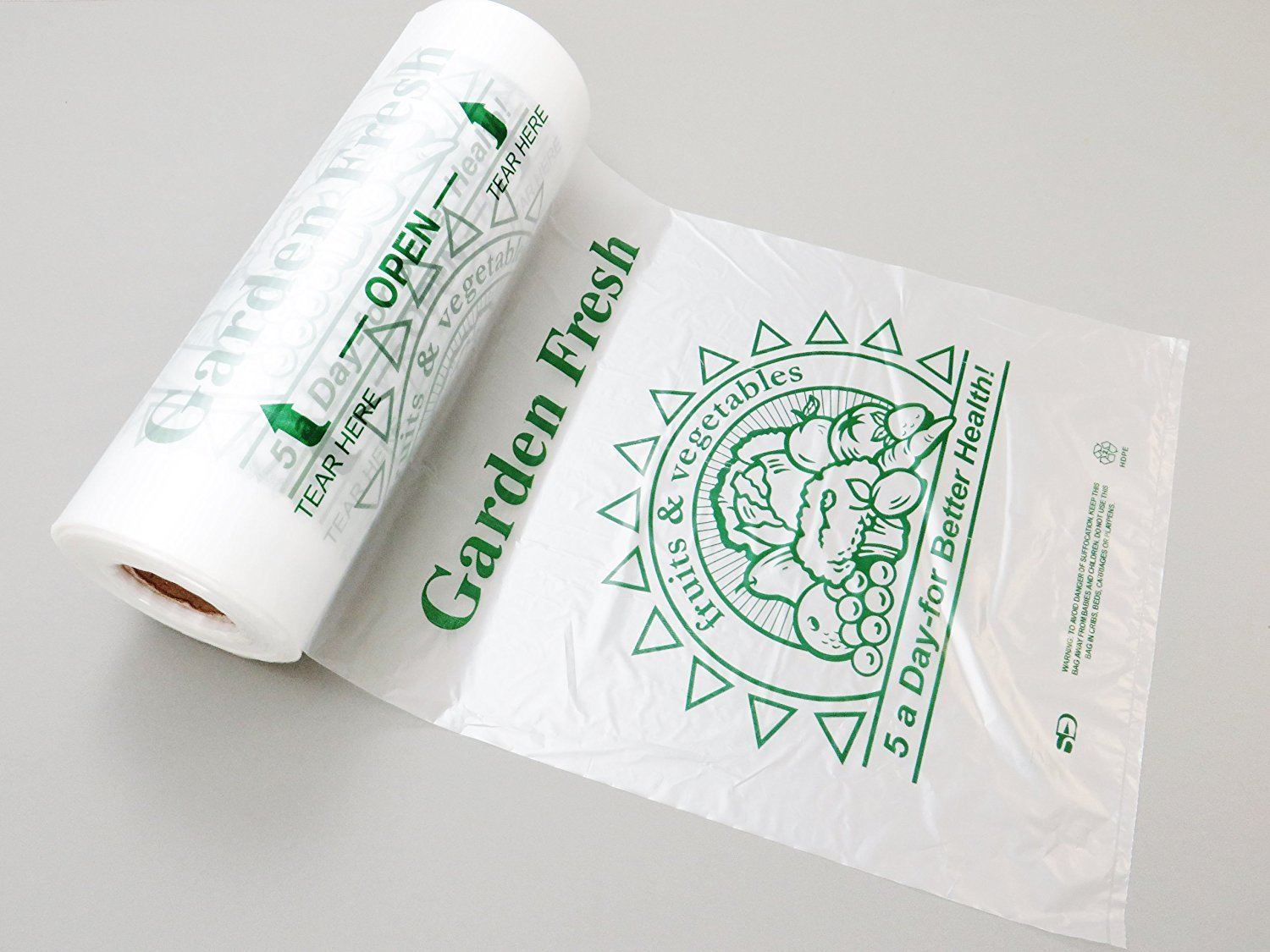 Royal プラスチック袋 プリント入り 高密度ポリエチレン パン 食料品 5ADay 10x15 B06W55X13F  5ADay 10x15