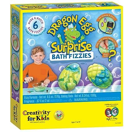 ccfd880e8 Amazon.com: Creativity for Kids Dragon Egg Surprise Bath Fizzies - Bath Bomb  Maker for Kids: Toys & Games