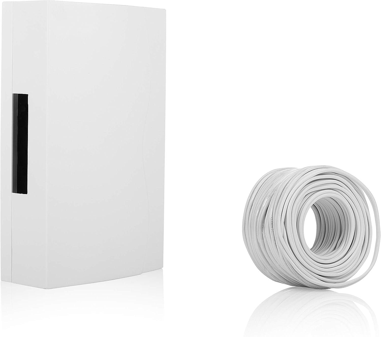 Wired Wall Mounted Batterie Sonnette Kit avec laiton poussoir et câble
