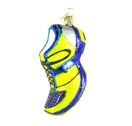 Amazon.com: RUNNING SHOE Glass Ornament Old World Christmas: Home ...