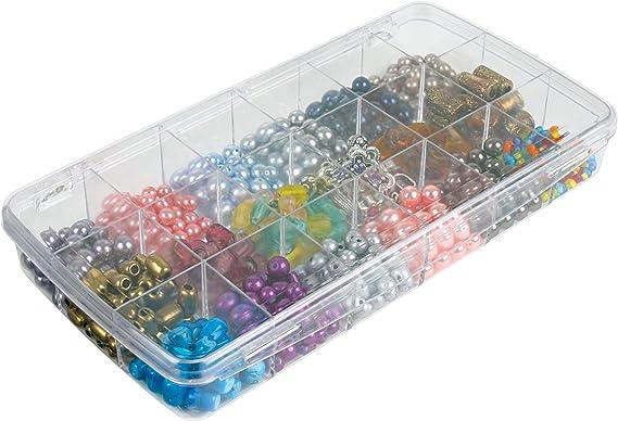 Art Bin Prism Caja pequeña 918AB 18 Compartimentos, Transparente ...
