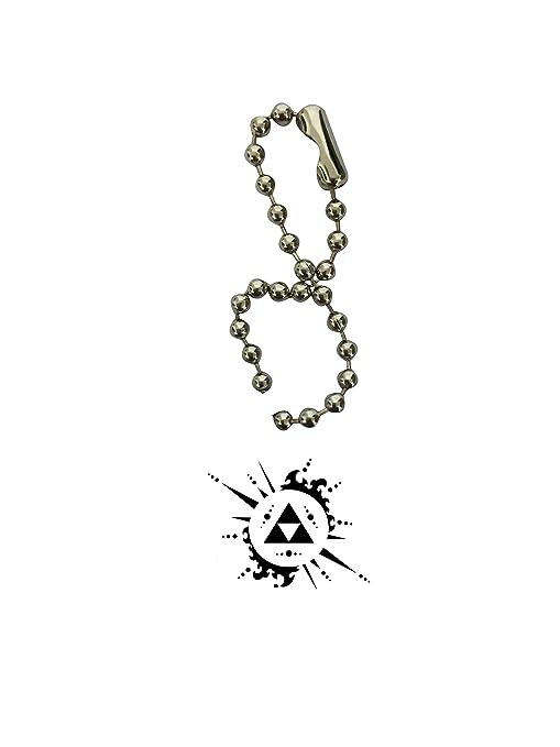 Leyenda de Zelda Triforce arte hueso de perro Llavero por ...