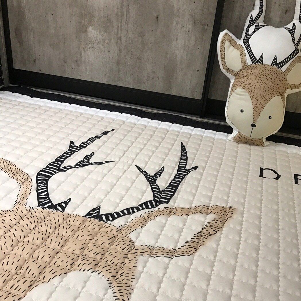 IHEARTYOU Baby Crawling Mat Cute Deer Play Carpet Children Bedroom Decor Living Room Rugs by IHEARTYOU (Image #6)