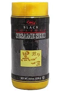 JFC Roasted Black Sesame Seeds Iri Goma, 8 oz