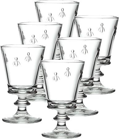 Amazon Com La Rochere Set Of 6 9 Ounce Napoleon Bee Wine Glasses White Wine Glasses Wine Glasses