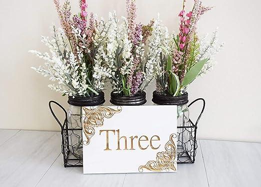 Evan332Eddie Elegante Flor Número de Mesa 5 x 7 Palé Estampado ...