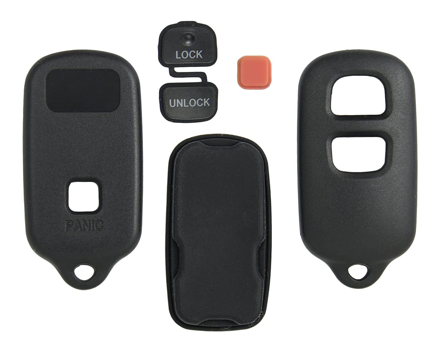 3 Button Replacement Key Keyless Remote Shell Pad Cover Fob Case For Toyota BestKeys az-SHELL-TOY-903