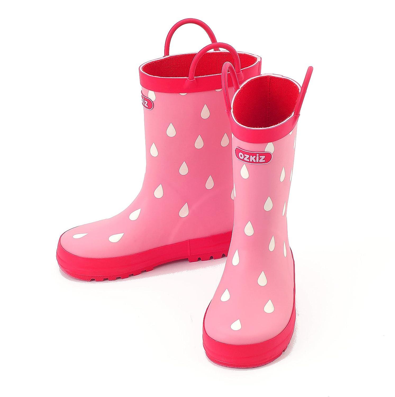 Ozkiz Girls and Boys Rubber Waterproof Rain Boots