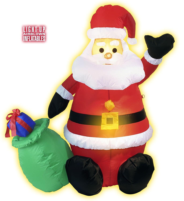 122 cm Grande Papá Noel hinchable Interior Decoración Figura ...