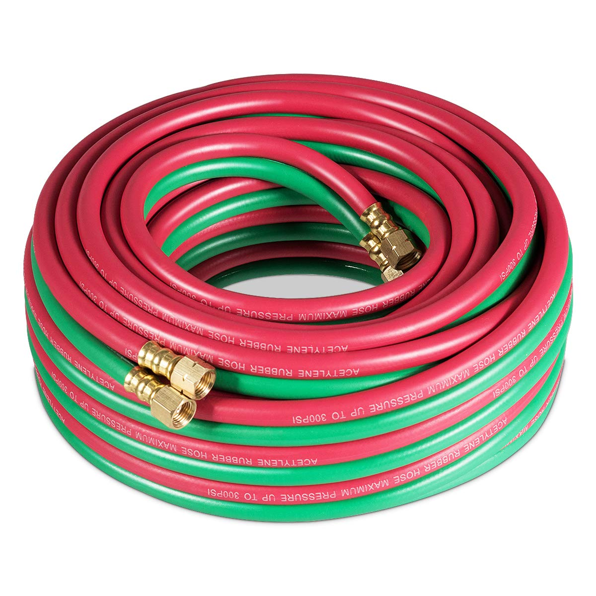 Red /& Green Oxy Acetylene Torch Hose Cutting Torch Hoses Hose Grade Twin Welding Torch Hose 50-Feet Oxygen Acetylene Hose Oxy-acetylene Twin Welding Hose