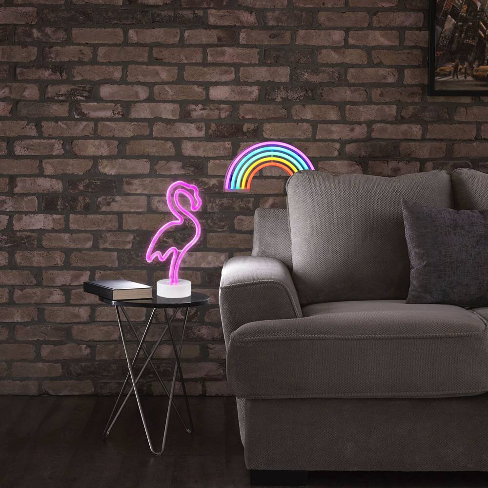 AIZESI Neon Light Signs,Neon Lamps,Marquee Battery Or USB Operated Table Led Ligths Wall Decoration for Girls Bedroom,Living Room, Christmas,Party as Kids Gift (Rainbow Color) by AIZESI (Image #8)