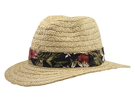 SCALA Men s Tropical Trim Raffia Safari Hat at Amazon Men s Clothing ... 94f7fe9b578d