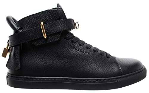 BUSCEMI Scarpe Uomo Sneakers Nere Pelle 100MM Core Clip Gold Handmade Italy  New 686d14be323