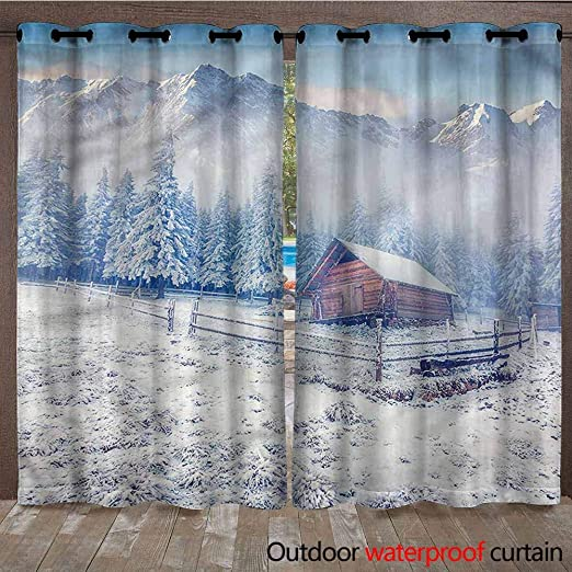 AndyTours - Cortina de Exterior para el hogar, jardín, Ventanas, Navidad, recámara, decoración de Pared para Interiores y Exteriores: Amazon.es: Jardín