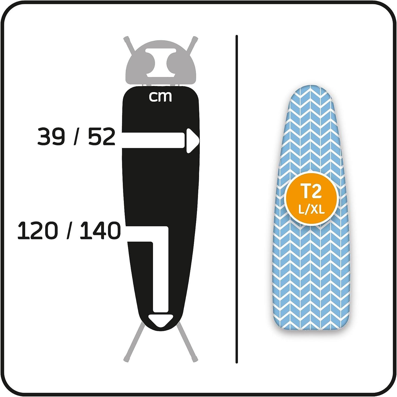 LaundrySpecialist/® COMFORT taille L//XL Convient /à toutes les planches /à repasser de grande et de tr/ès grande taille T2 Housse de repassage 100/% coton avec couche inf/érieure en molleton /épaisse