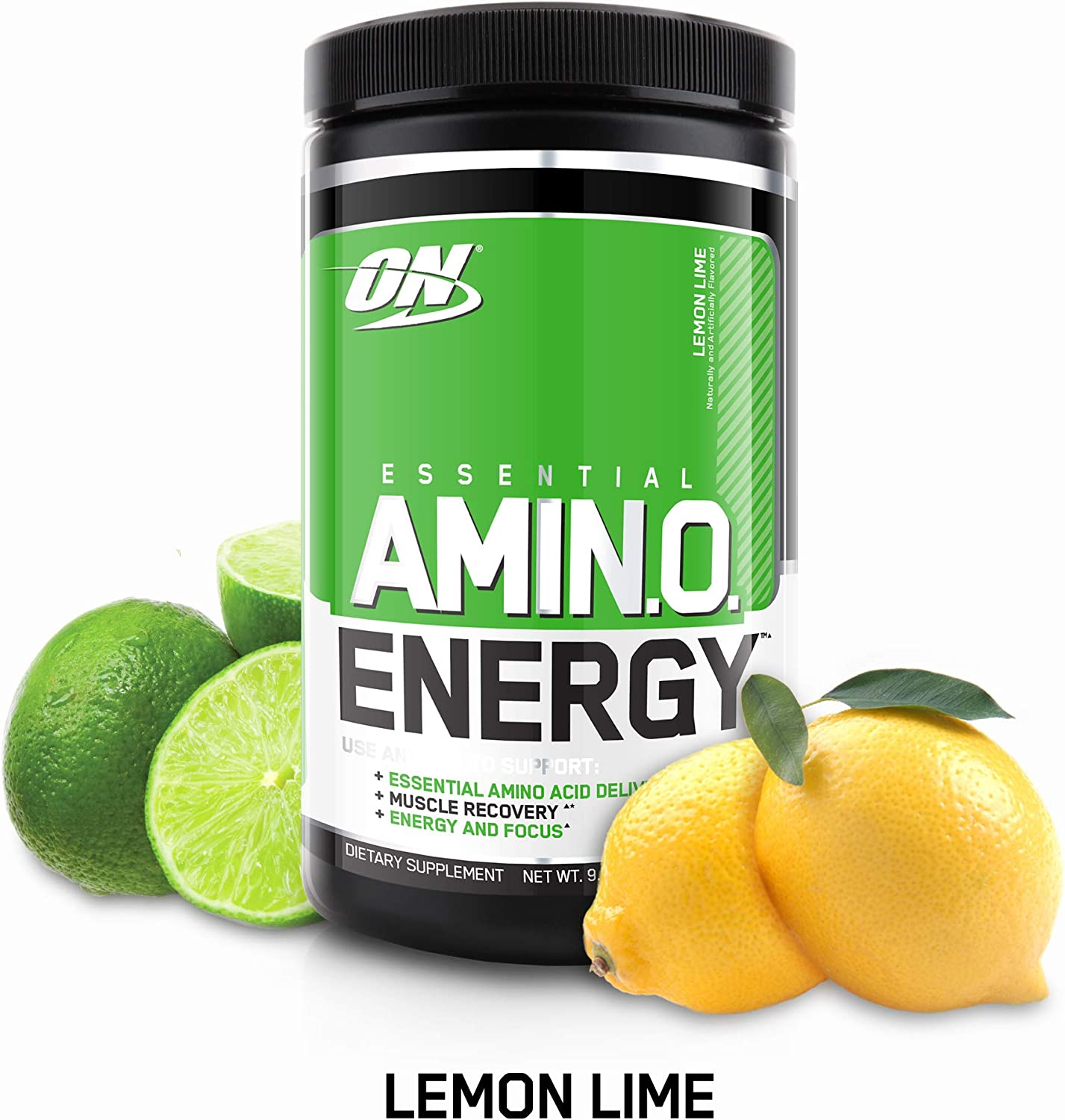 OPTIMUM NUTRITION ESSENTIAL AMINO ENERGY, Lemon Lime, Keto Friendly BCAAs, Preworkout and Essential Amino Acids with Green Tea and Green Coffee Extract, 30 Servings, 9.5 Ounce (Pack of 1)