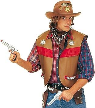 NET TOYS Disfraz de Cowboy con Chaleco Sheriff Uniforme del Oeste ...