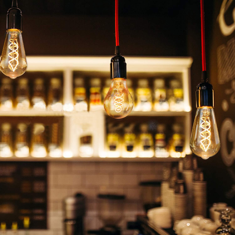 GBLY Dimmbar Dekorative Antike Lampe ST64 Warmwei/ß 2200K Filament Bulb Ideal f/ür Nostalgie und Retro Beleuchtung im Haus Caf/é Bar Restaurant 3x Edison Vintage Gl/ühbirne E27 4W Retro Edison Gl/ühlampe