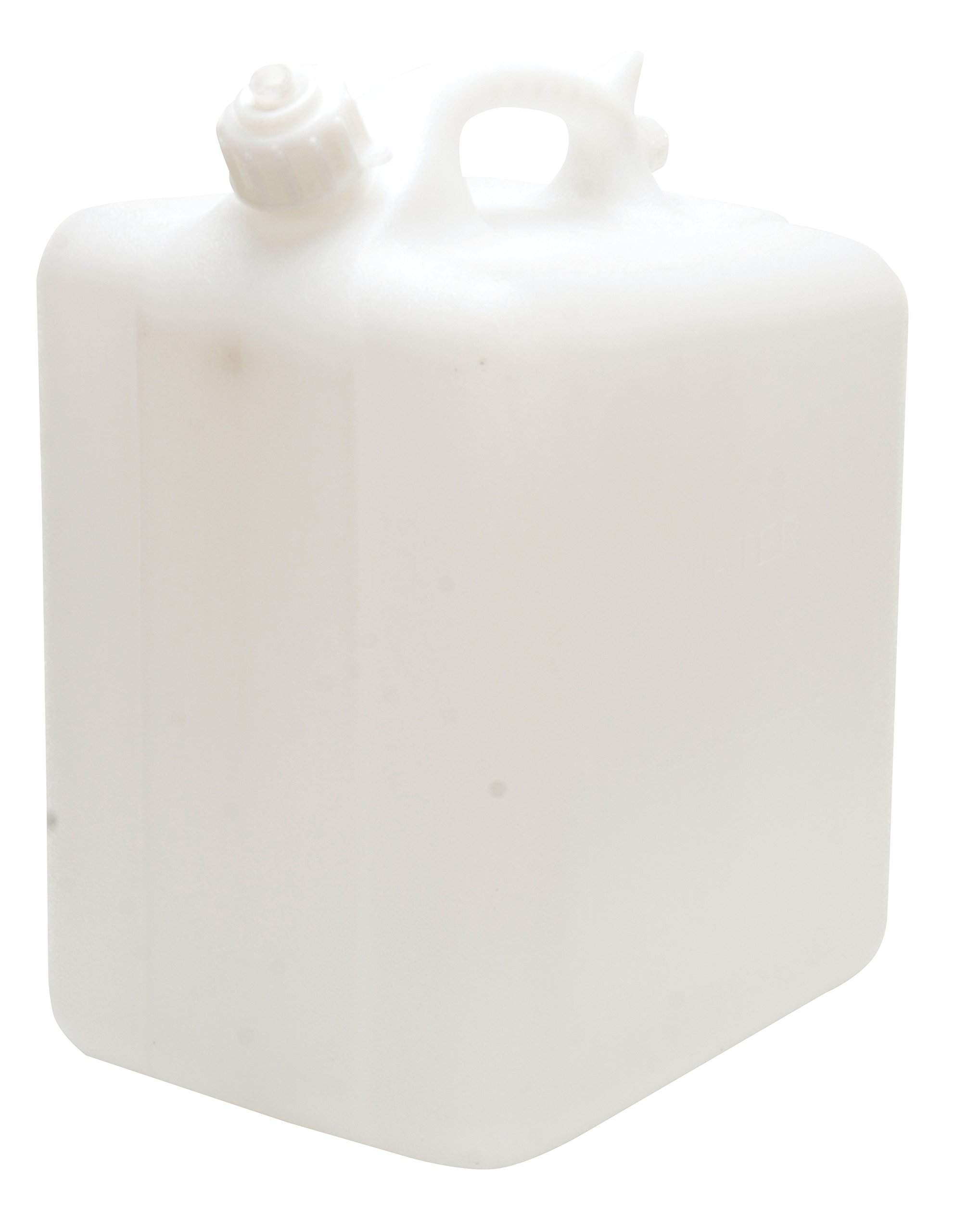 Vestil CARB-T-5 High Density Polyethylene (HDPE) Rectangular Tilt Top Carboy with Recessed Hand-Grip, 5 Gallon Capacity, Natural