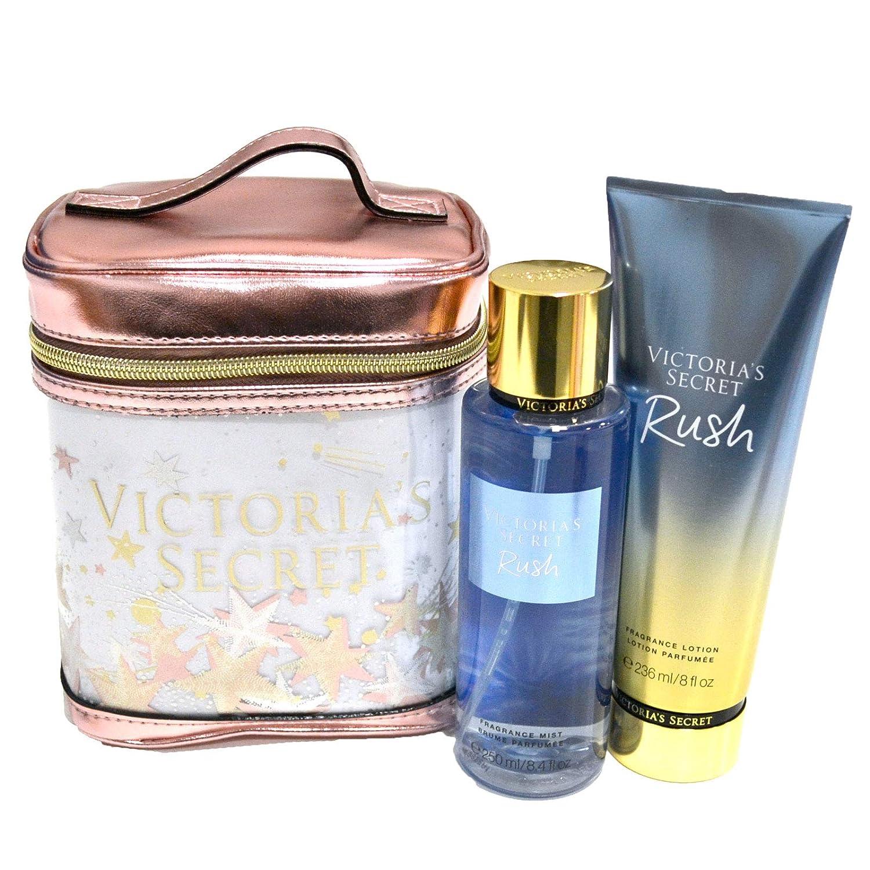 Victoria's Secret Rush Gift Set Mist, Lotion, Cosmetic Train Case