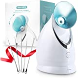 EZBASICS Facial Steamer Nano Ionic Face Steamer with Aromatherapy Design for Home Facial Warm Mist Humidifier Atomizer, Humid