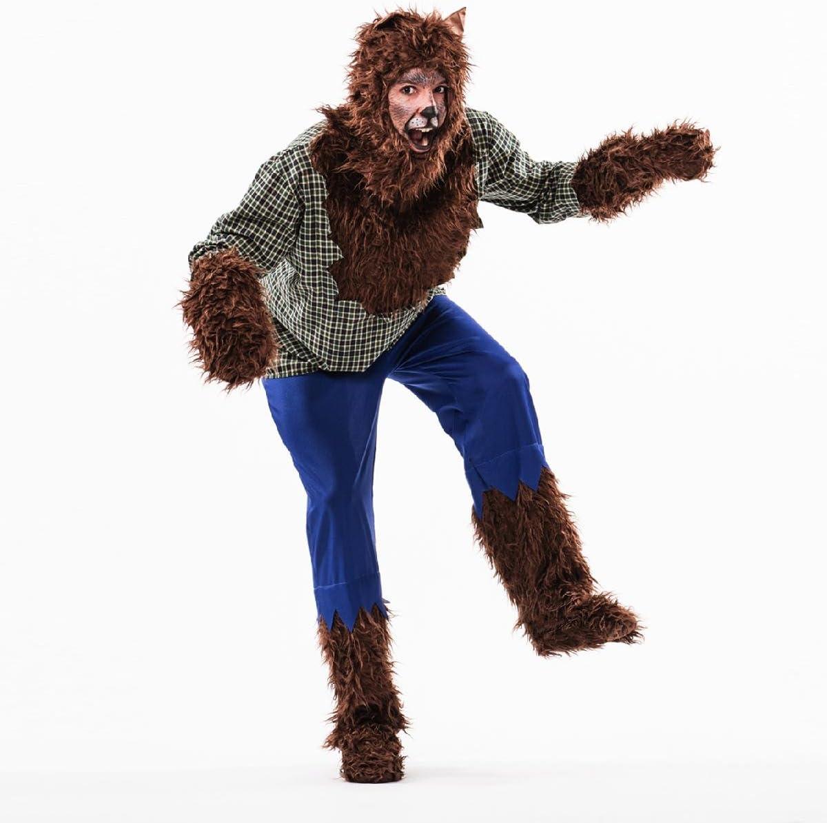 Disfraz de Hombre Lobo Adulto: Amazon.es: Juguetes y juegos