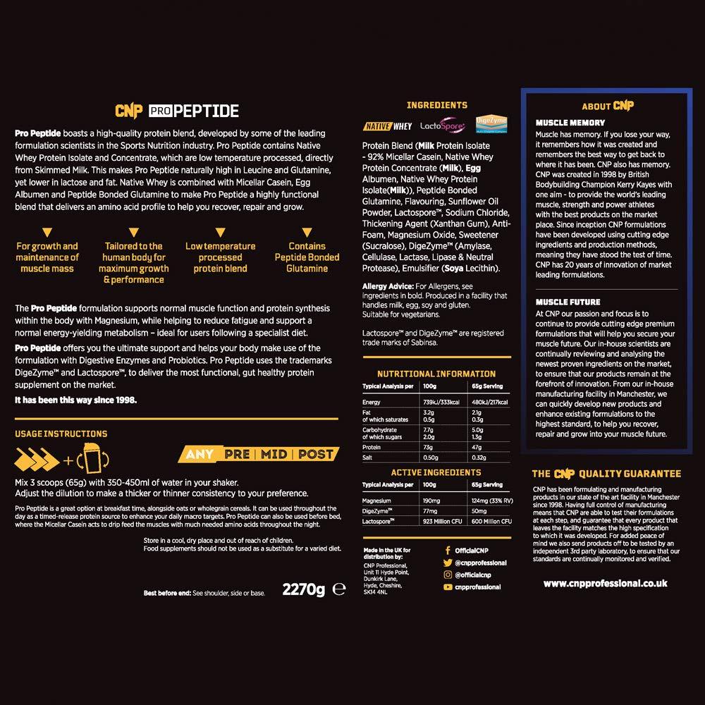 CNP Professional Pro Peptide - Suplemento alimenticio (2,27 ...