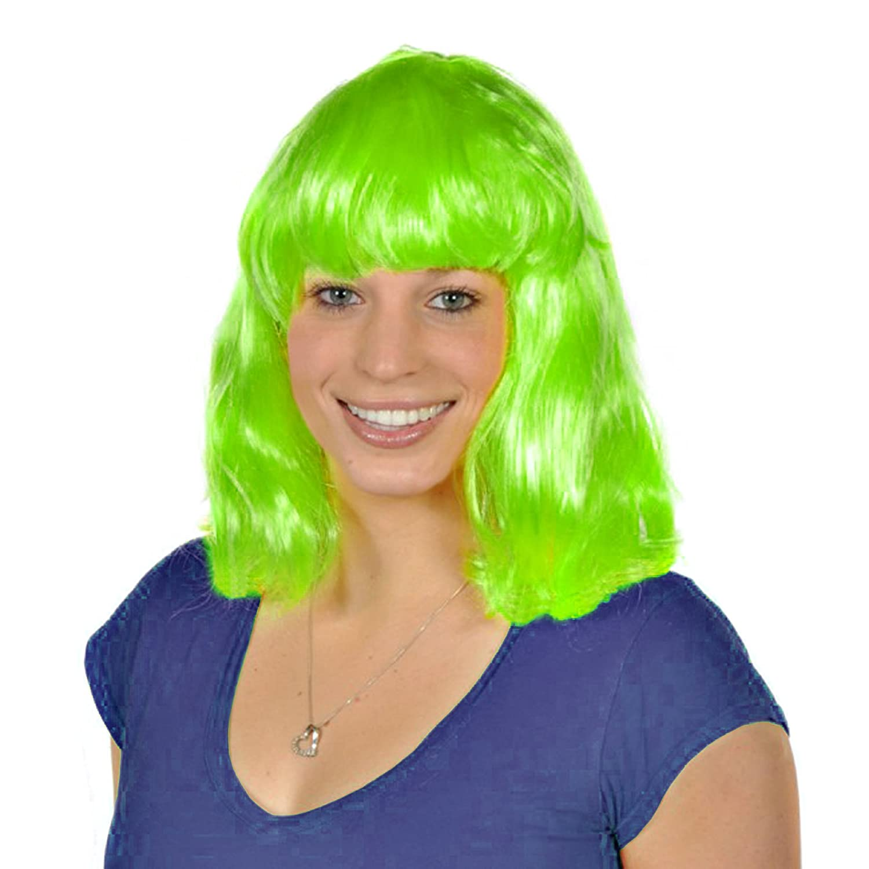 Neon Green Costume Wig Rhode Island Novelty