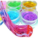 Asian Hobby Crafts ShopNGift DIY 5D Slime Gel Light Modeling Air Dry Magic Clay Jelly for Kids and Teens (Multicolour) Set of 6 Colour