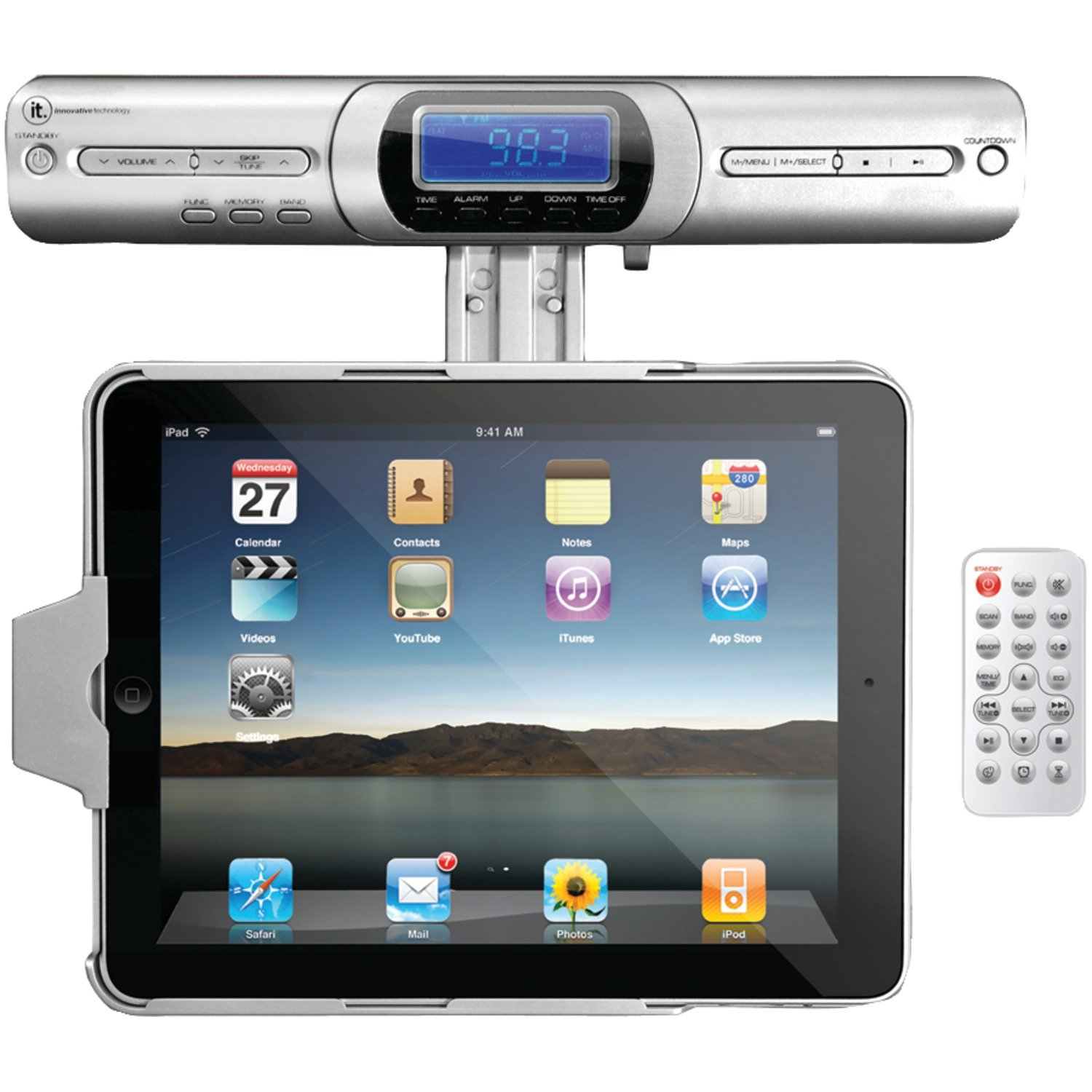 Amazon.com: Innovative Technology Under Cabinet iPad Player Dock ...