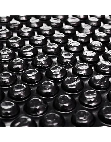 Festnight Película Negra Rectangular de Polietileno Flotante de Piscina 6X4 M