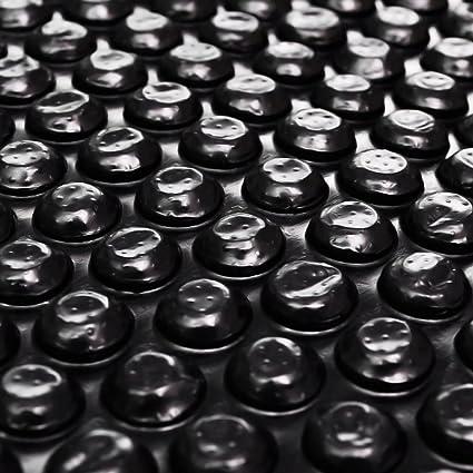 Película Negra Rectangular de Polietileno Flotante de Piscina 6x4 m