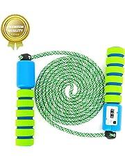 Sunshine smile Springseil Speed Rope mit Zähler Und Komfortablen & Anti-Rutsch Griffen für Fitness und Boxen