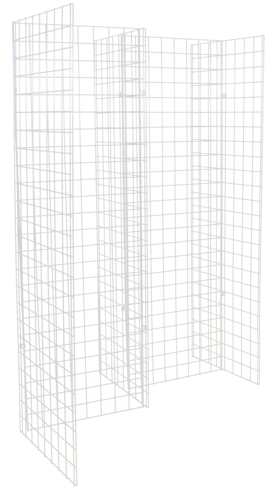 KC Store Fixtures 05315 Freestanding Grid Unit with 5 2' x 6' Panels, White