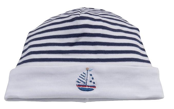 defa73737ff Amazon.com  Kissy Kissy Baby-Boys Infant Skysail Stripe Hat  Clothing