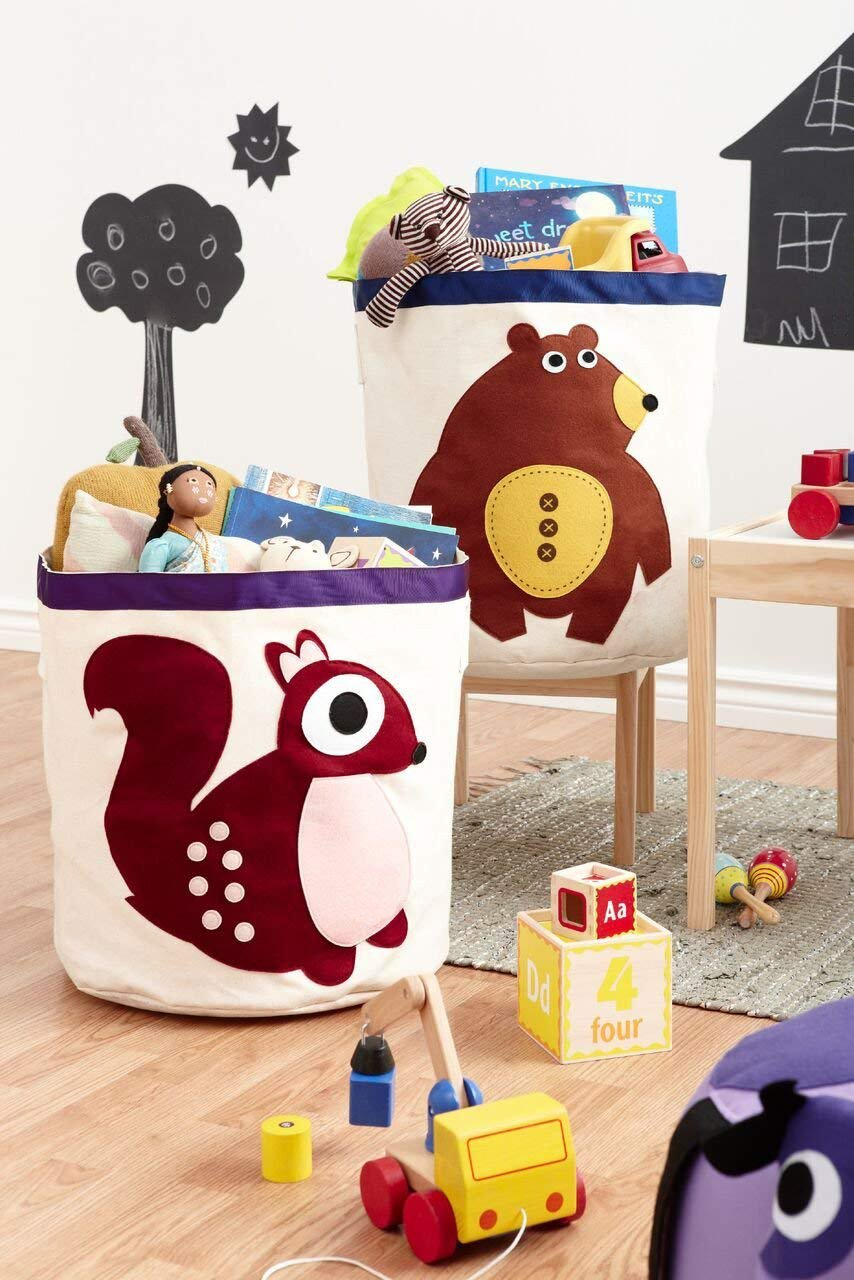 Canvas Storage Bins for Kids Toys or Laundry Basket (Monkey) Shanghai Alliance Industry