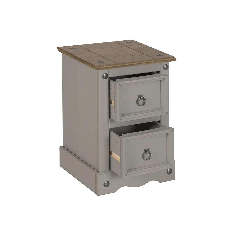 Small 2 Drawer Petite Bedside Premium Corona Solid Pine Bedroom Range
