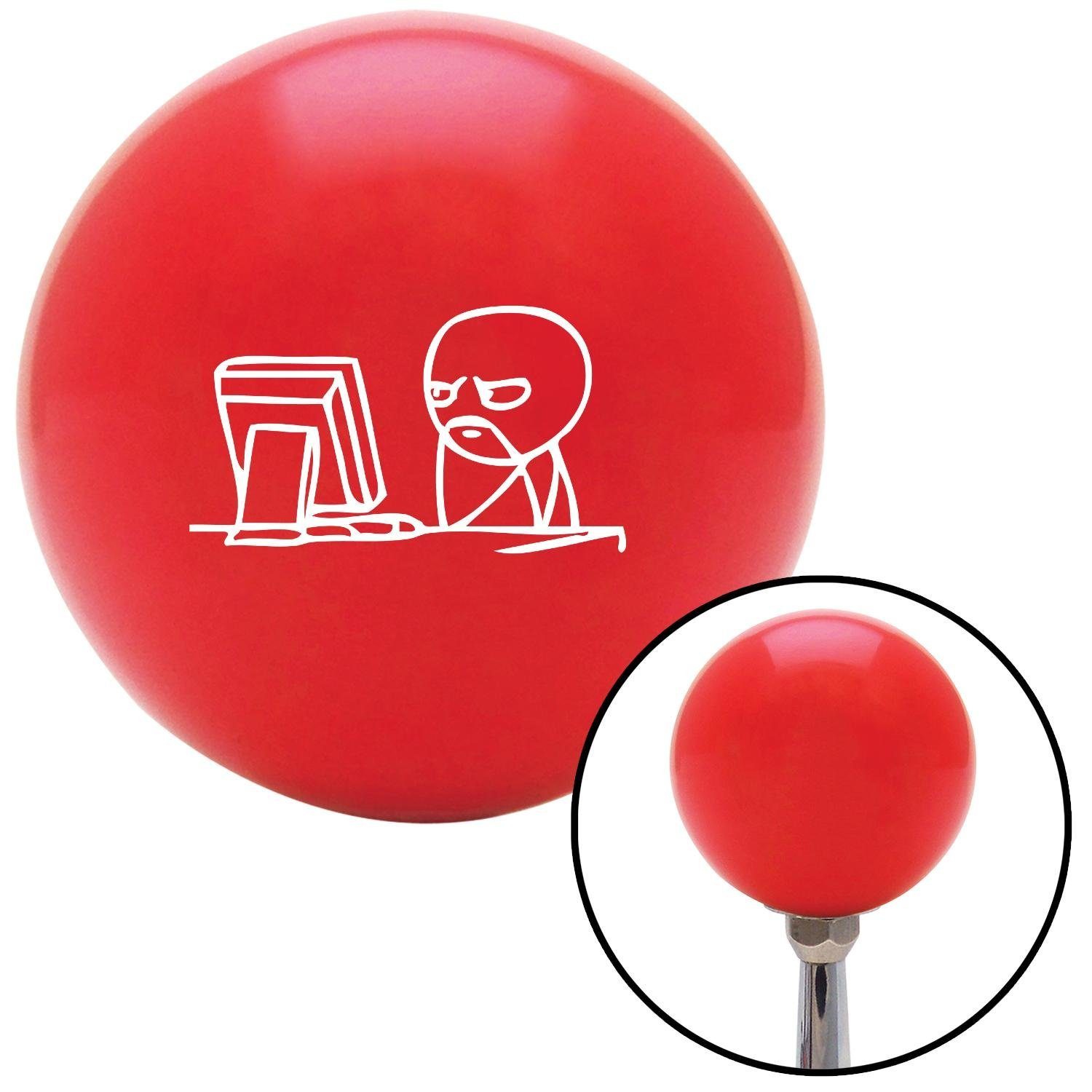 American Shifter 97224 Red Shift Knob with M16 x 1.5 Insert White Soon Computer