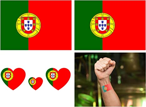 Luxspire Tatuajes Temporales de Bandera Nacional, Pegatinas ...