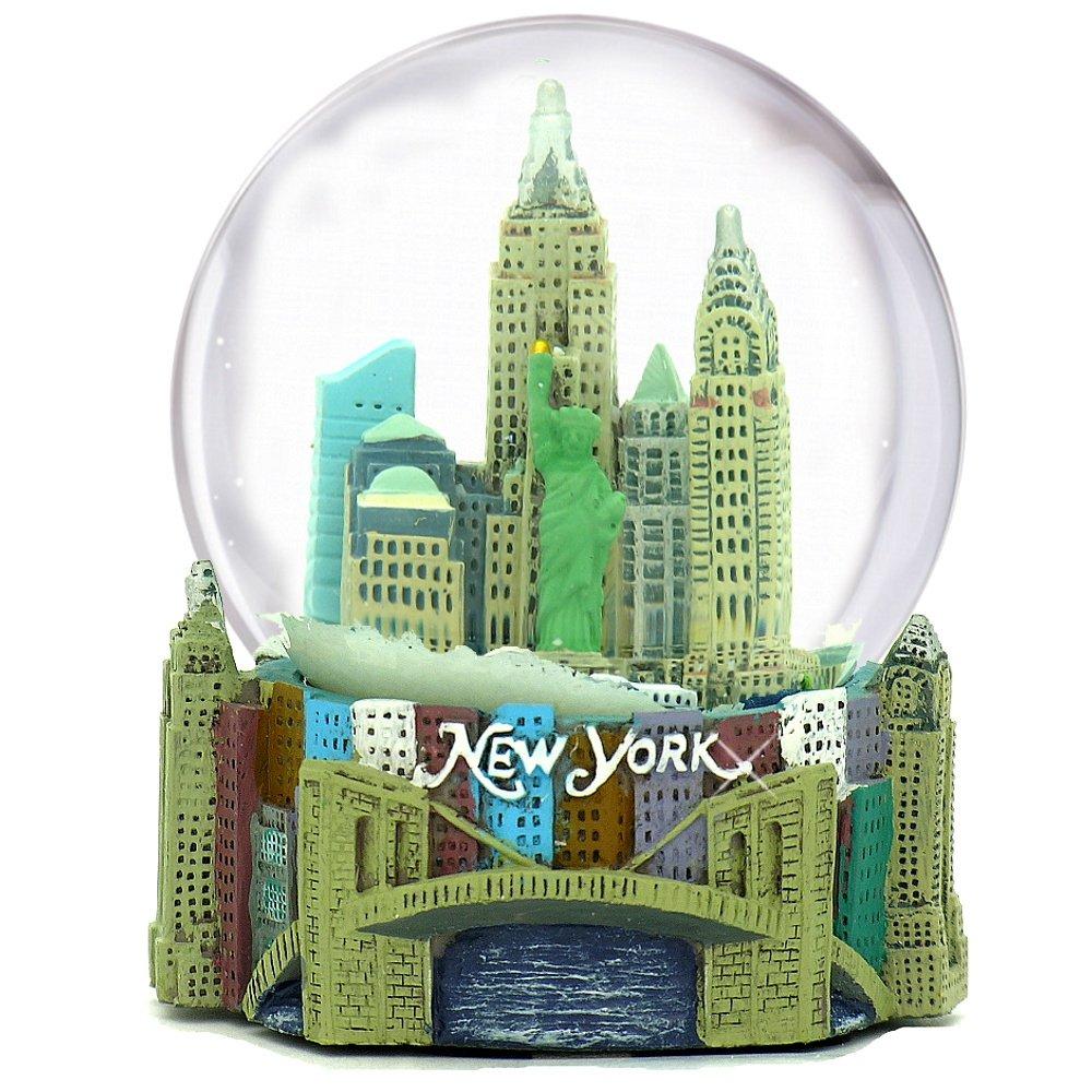 Musical New York City Snow Globe, 100mm New York City Snow Globes, 5.5 Inches Tall, PLAYS NEW YORK, NEW YORK
