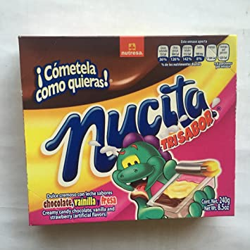 Nucita Chocolate, strawberry & Vanilla Mexican Creamy Candy 16 Pcs 8.5oz