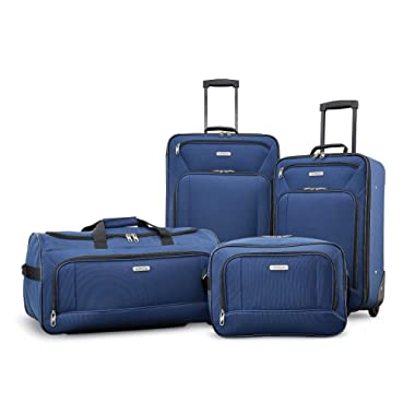 "American Tourister Fieldbrook XLT 4pc Set (Boarding Bag, 21"" Upright, 25"" Upright, Wheeled Duffel)"