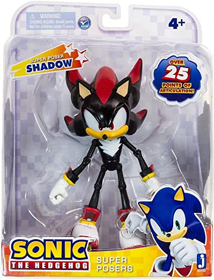 Amazon Com Sonic 20th Anniversary Super Posers Shadow Over 25 Points Of Articulation Toys Games