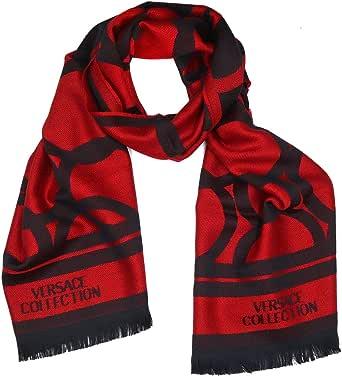 Versace Collection ISC40R1WIT02855I4081 - Scarf para hombre, color negro y rojo