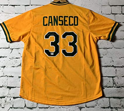 differently 2f789 178b7 Jose Canseco Signed Autographed Oakland Athletics Pro Style ...