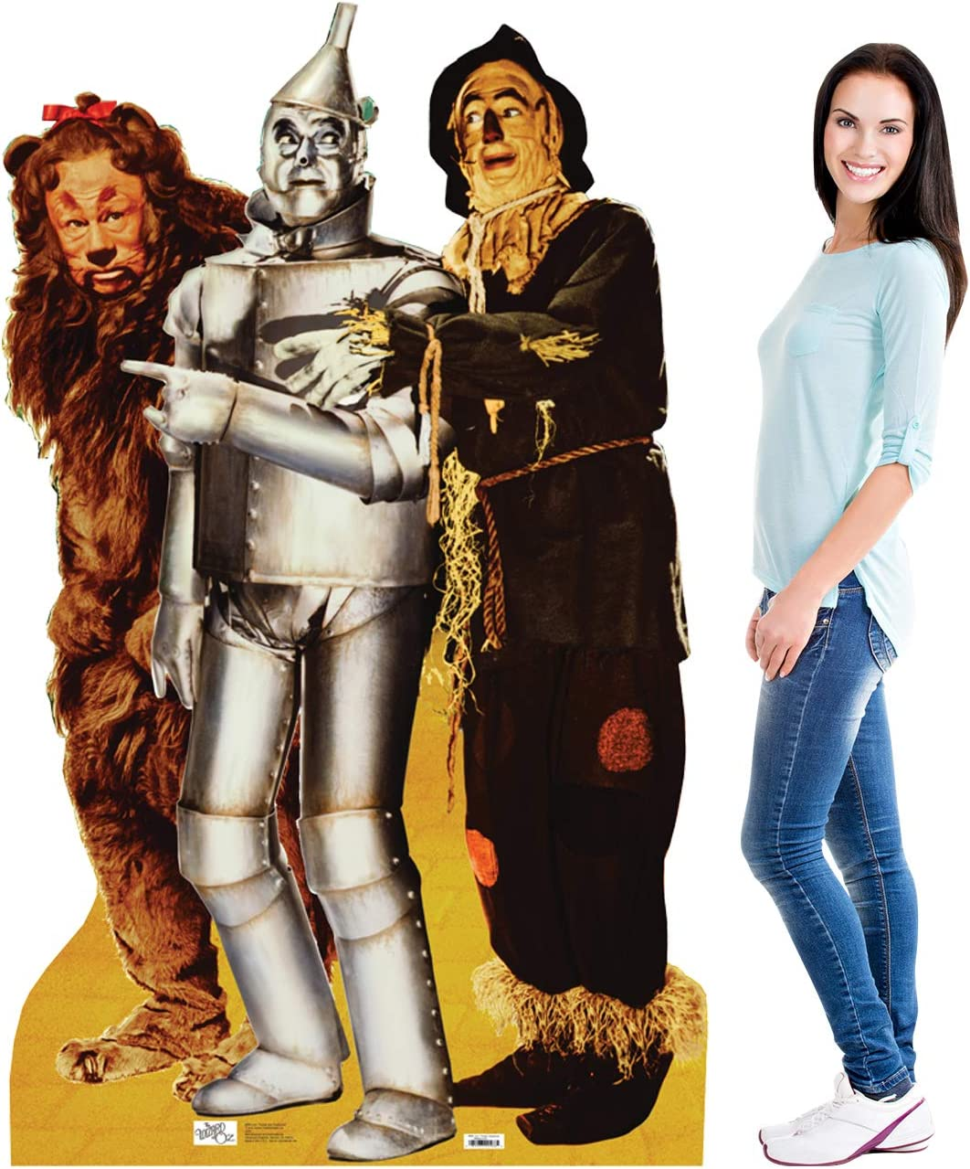 148 x 55 x 148 cm Star Cutouts Ltd Dorothy Follow The Yellow Brick Road The Wizard of Oz Life Size Cardboard Cut Out with Mini Table top Multi-Colour