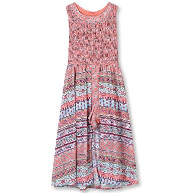 fec0755b2b0b Amazon.com  Speechless Girls  Big Smocked Bodice Walk Through Dress   Clothing